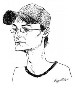 """Frank V. Ross"" drawing by Douglas Pollard."